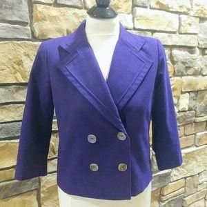 Mod Retro Purple Cropped Jacket W/ STRETCH